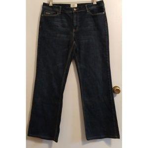 White House Black Market Blanc 14 Jeans Dark Wash